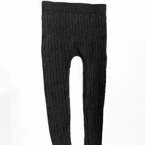 Other - FREE w/ BUNDLE Black Sparkly Metallic Leggings